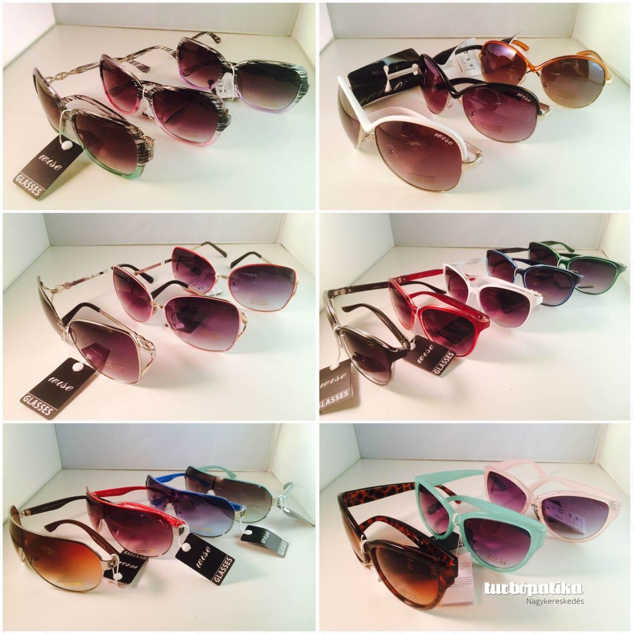 15 db-os napszemüveg multi-pack UW400 (A teljes felnőtt készletből összeválogatva!)