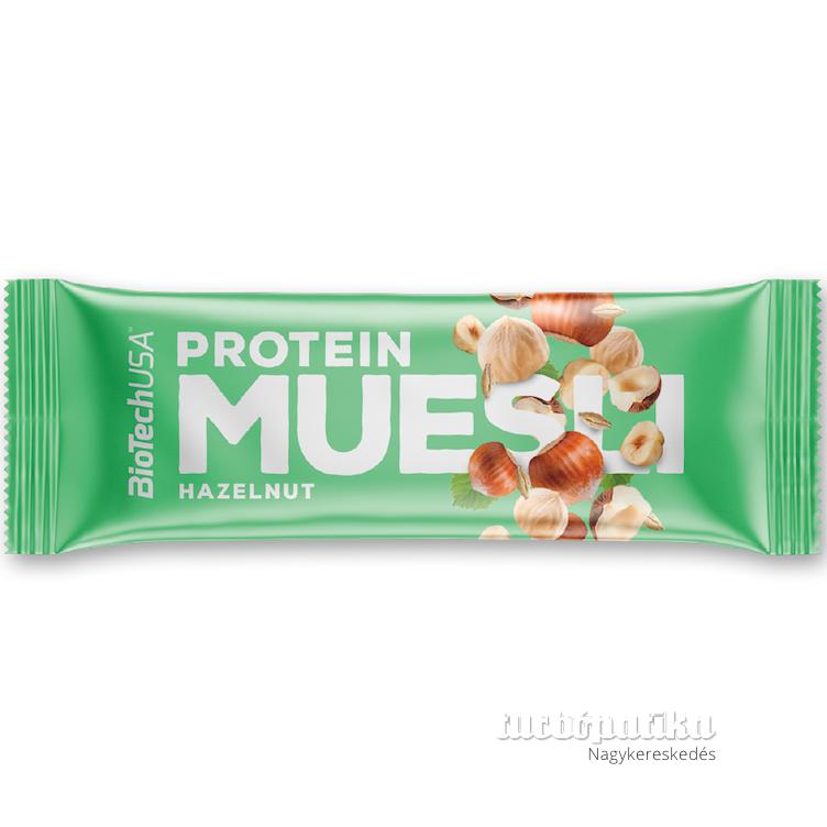 Protein muesli 30 g mogyoró BioechUsa (Hozzáadott cukor nélkül, tartósítószer mentes)